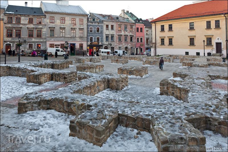 Остатки фундамента костела Св. Архангела Михаила в Люблине / Фото из Польши