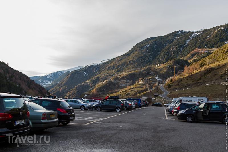 Парковка в зоне Эль-Тартер (El Tarter), Андорра / Фото из Андорры