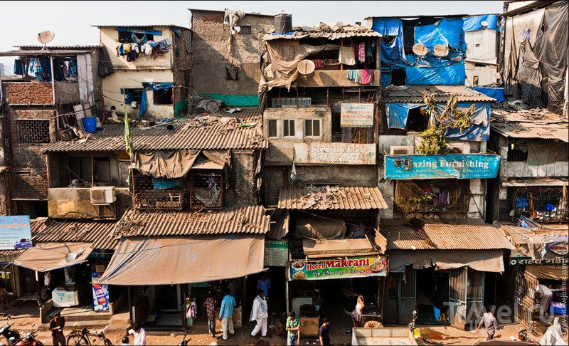 Район Дхарави в Мумбаи / Фото из Индии