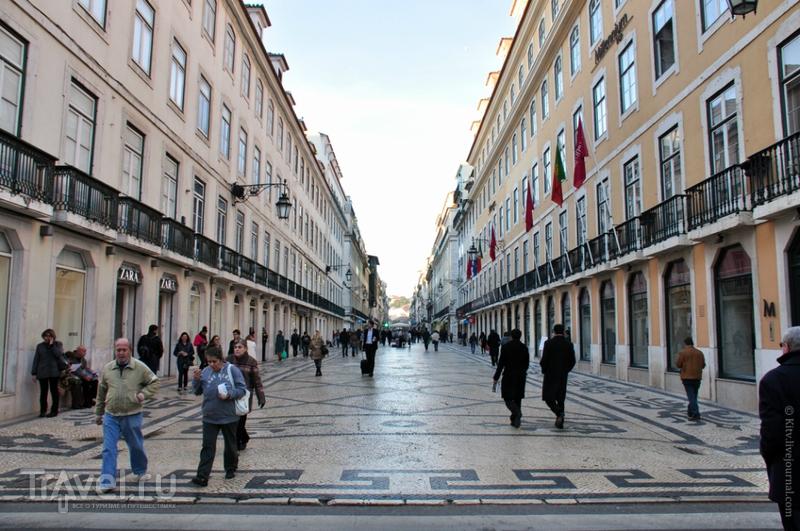 Rua Augusta в Лиссабоне / Фото из Португалии