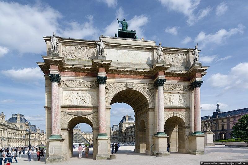 Триумфальная арка на площади Каррузель, Париж / Фото из Франции