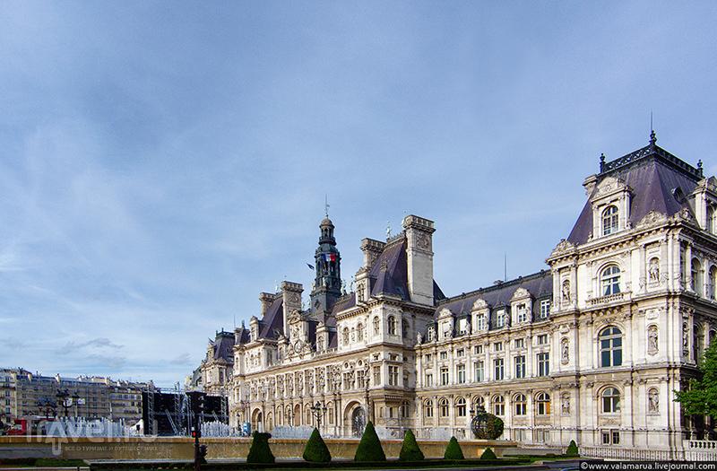 Парижская ратуша Отель-де-Виль (фр. Hôtel de Ville) / Фото из Франции