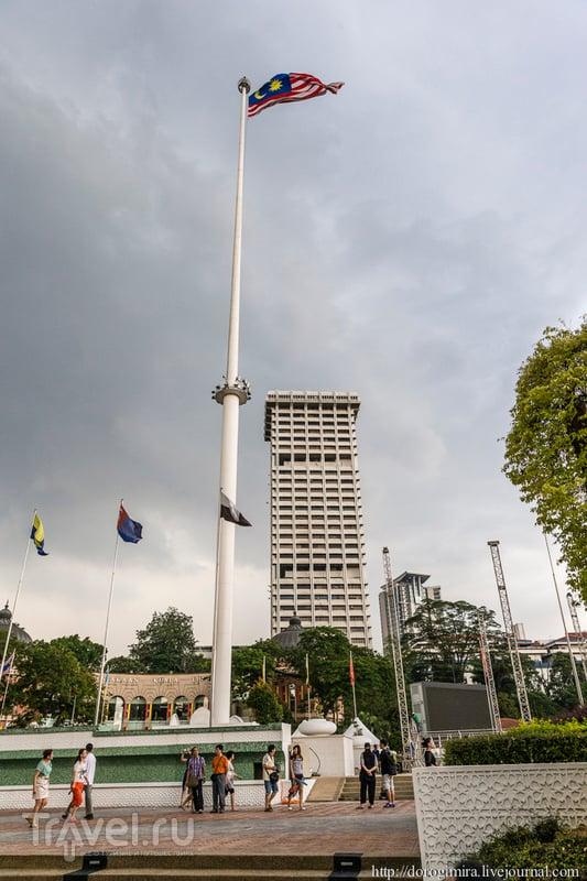 Площадь Мердека, она же площадь Независимости в Куала-Лумпуре / Фото из Малайзии