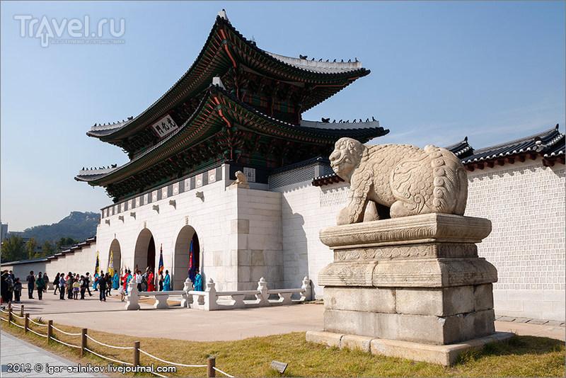 Императорский дворец Кёнбоккун в Сеуле, Южная Корея / Фото из Южной Кореи