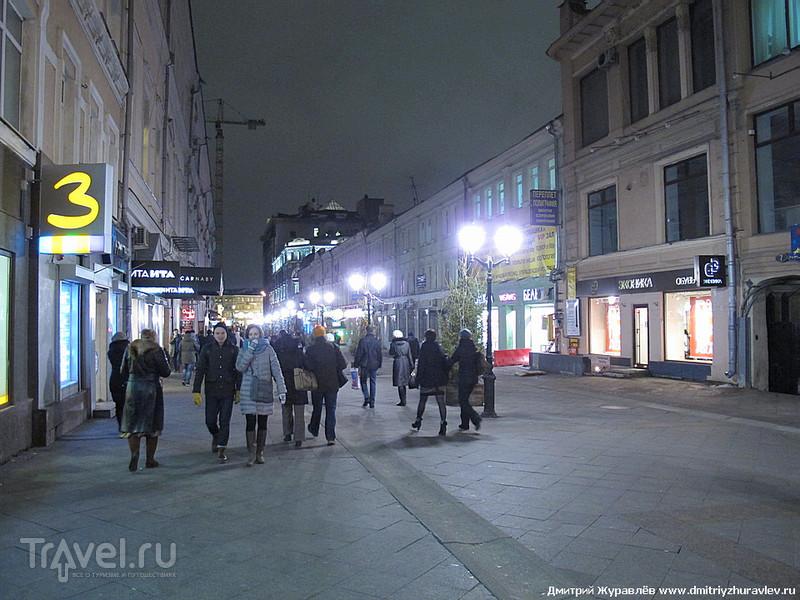 Вечерняя прогулка по новым пешеходным улицам Москвы / Россия