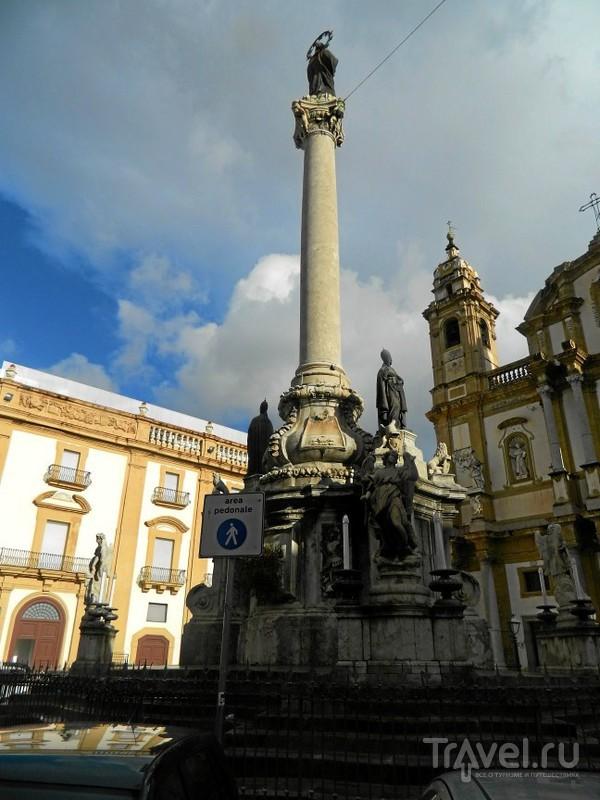 Колонна Девы непорочной (Colonna dell'Immacolata).в Палермо, Италия / Фото из Италии