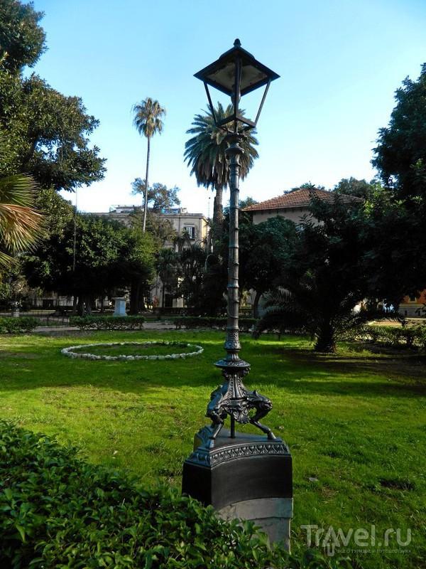 Сад Гарибальди на piazza Marina.в Палермо, Италия / Фото из Италии