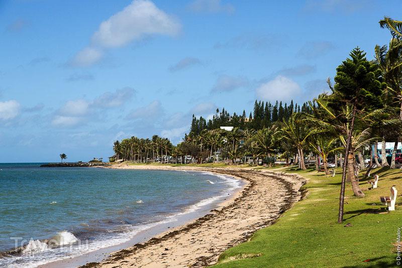 Набережная и пляж Anse Vata в Нумеа, Новая Каледония / Фото из Новой Каледонии