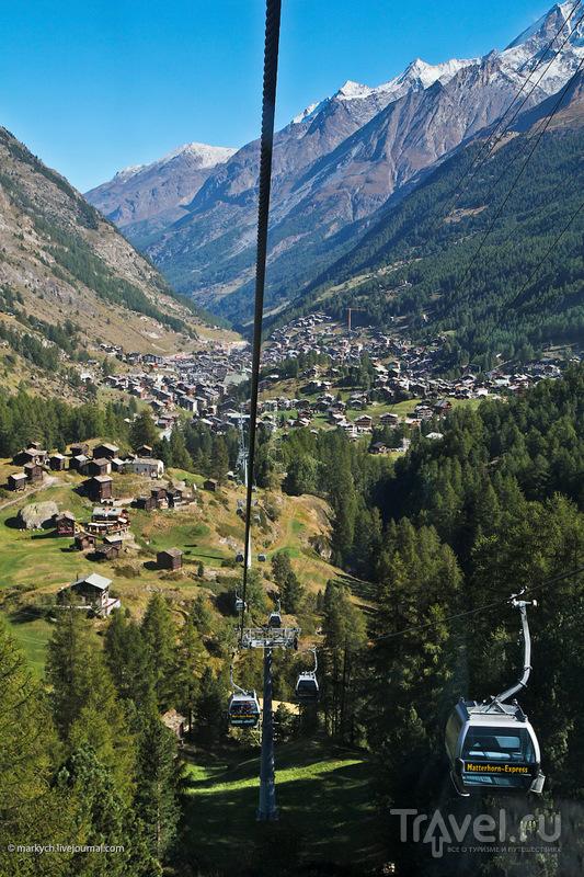 Канатная дорога на Klein Matterhorn, Швейцария / Фото из Швейцарии
