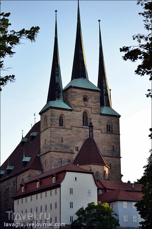 Северикирхе (церковь Святого Севера) в Эрфурте, Германия / Фото из Германии