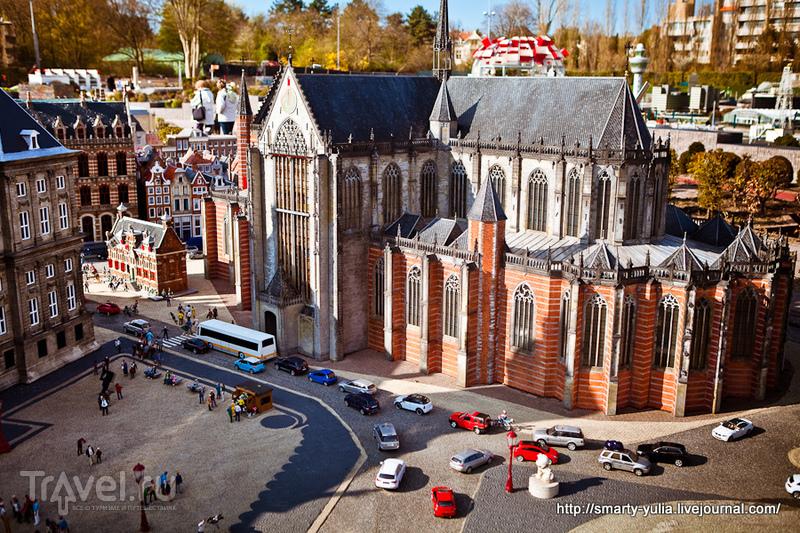 Макет знаменитой площади Дам в Амстердаме / Фото из Нидерландов