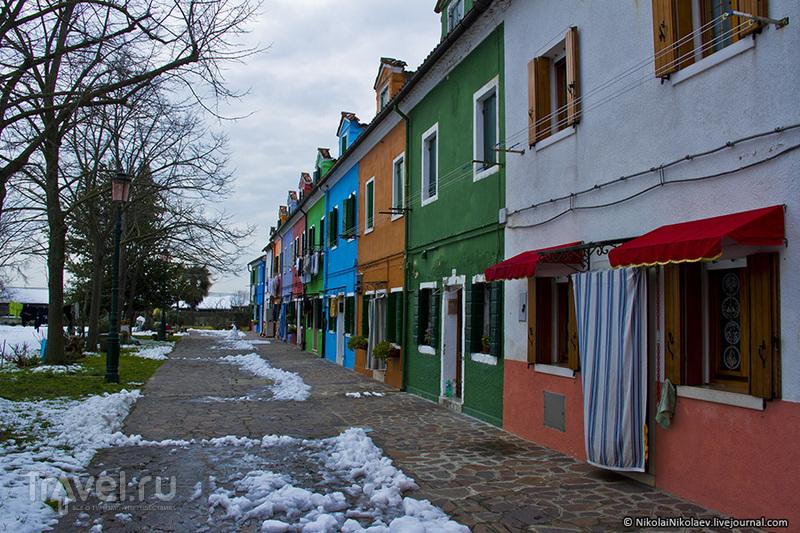 В городе Бурано, Италия / Фото из Италии
