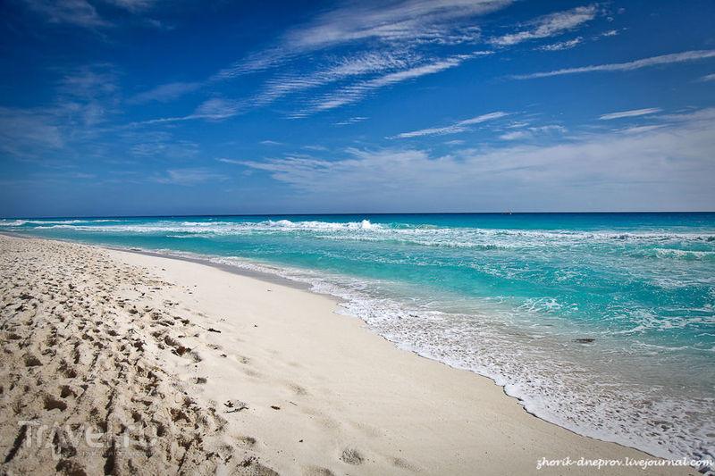 Пляж в Тулуме, Мексика / Фото из Мексики