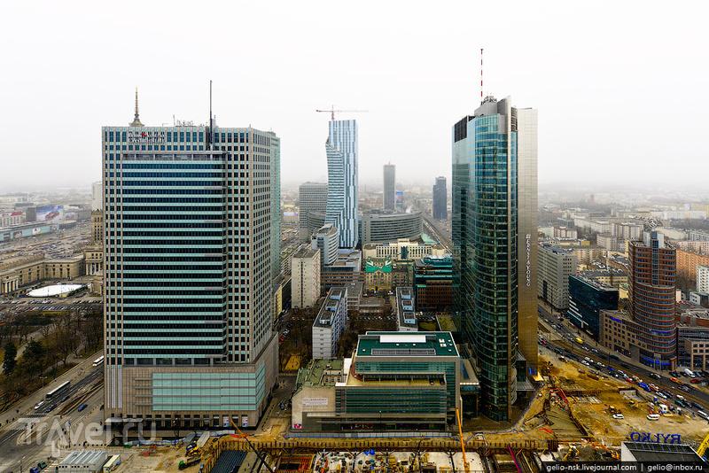 Зимняя Варшава с высоты / Фото из Польши
