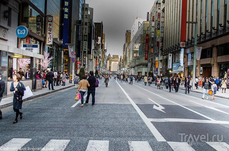 Улица Гинза в Токио, Япония / Фото из Японии