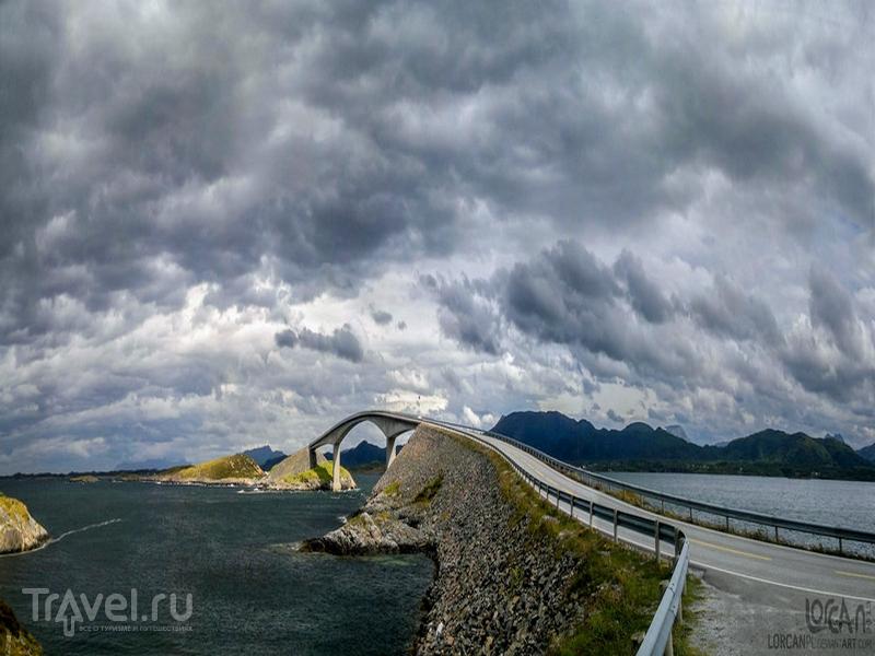 Высота моста Storseisundet достигает 23 метров, Норвегия / Норвегия