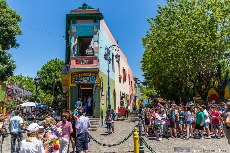 Улица Эль-Каминито, Буэнос-Айрес / Фото из Аргентины