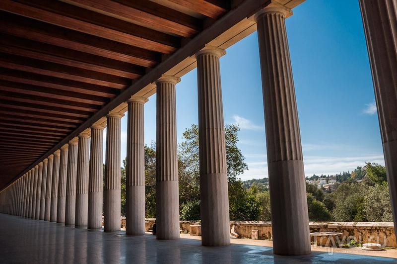 Стоа Аттала в Афинах, Греция / Фото из Греции