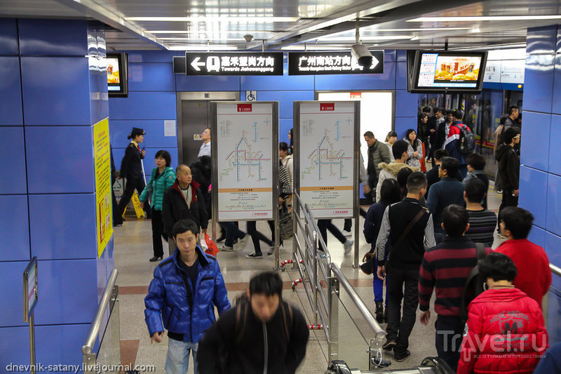 Гуанчжоу, Китай: метро