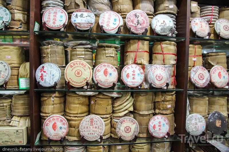 Гуанчжоу, Китай: чайный рынок