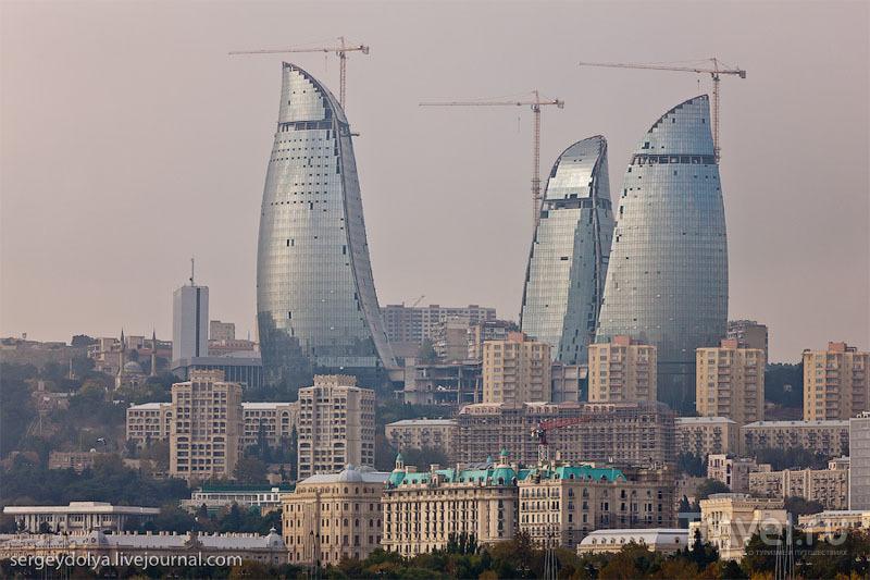 Flame Towers в Баку, Азербайджан / Фото из Азербайджана