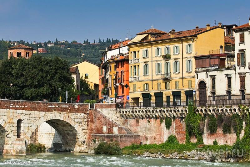 Река Адидже в Вероне, Италия / Фото из Италии