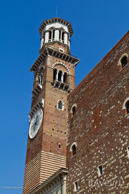 Башня Ламберти в Вероне, Италия / Фото из Италии