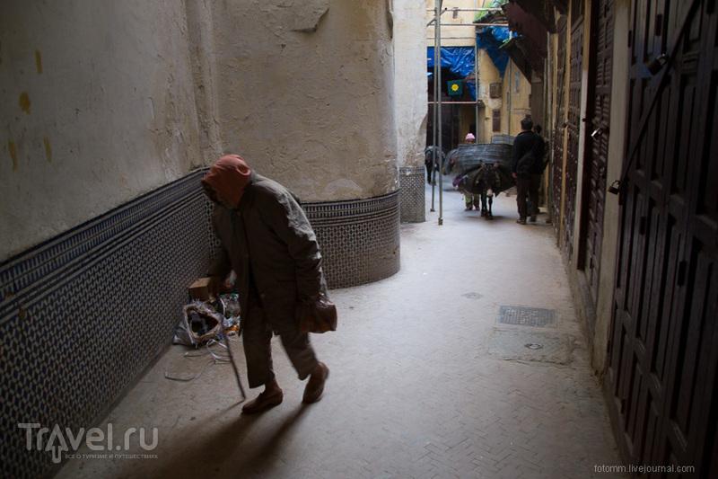 На улице города Фес, Марокко / Фото из Марокко