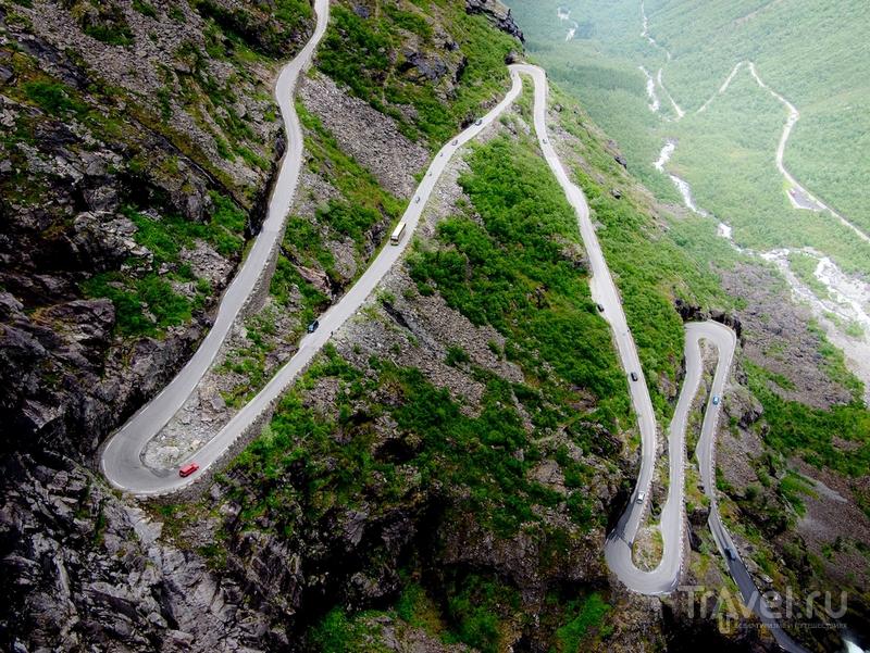 Туристический маршрут Trollstigen совпадает с трассой RV63, Норвегия / Норвегия