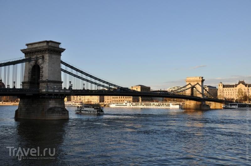 Цепной мост Сечени в Будапеште, Венгрия / Фото из Венгрии