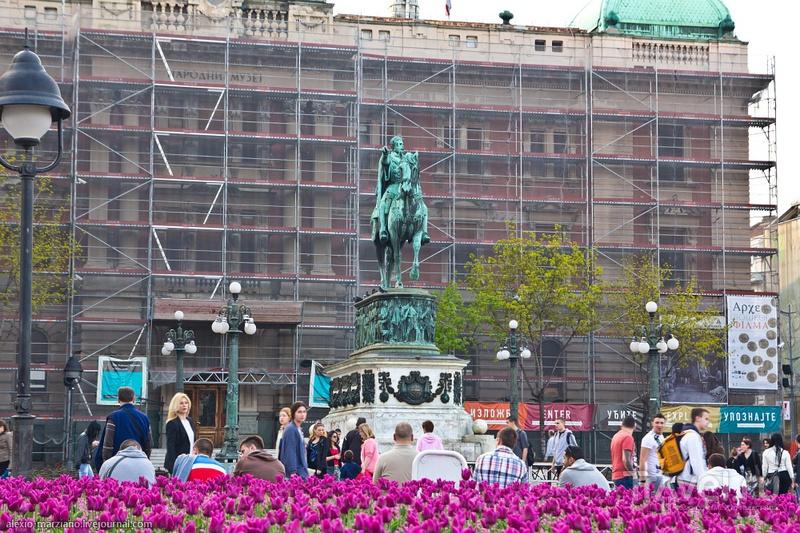 Памятник Князю Михаилу в Белграде, Сербия / Фото из Сербии