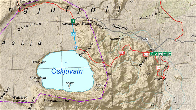 Аскья - геологический феномен центральной Исландии / Исландия
