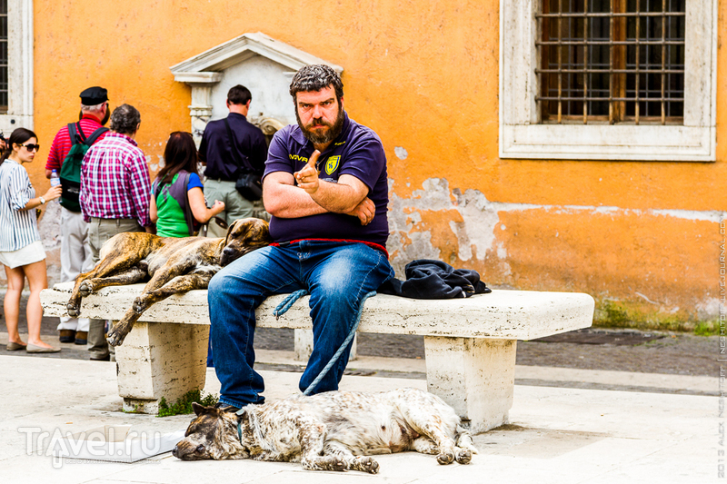 Уличные попрошайки Рима / Италия