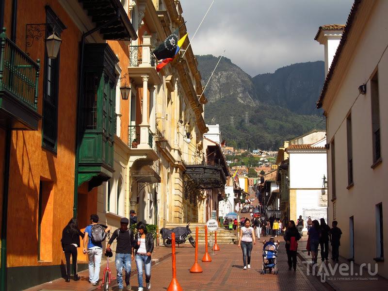 В квартале Канделария в Боготе, Колумбия / Фото из Колумбии