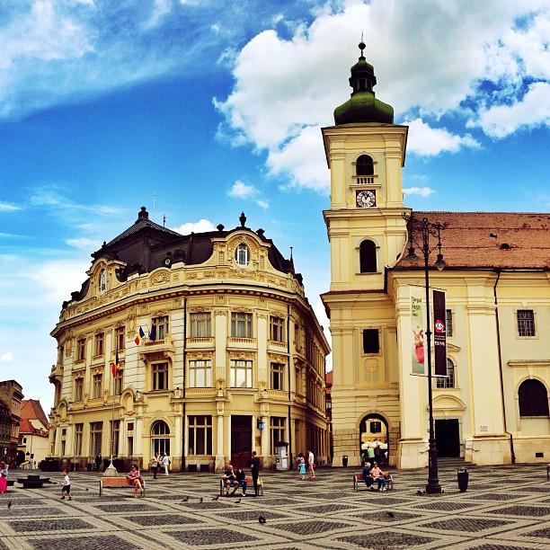 В городе Сибиу, Румыния / Фото из Румынии