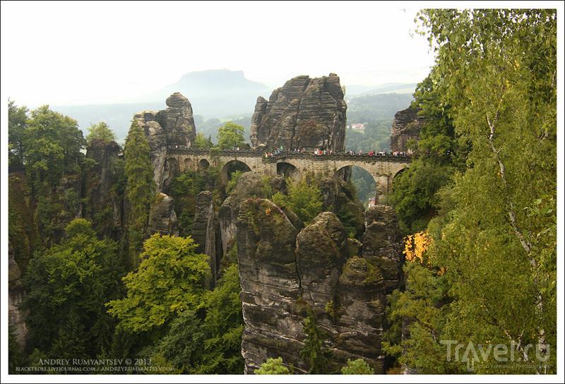 Путешествие в Саксонскую Швейцарию. Скалы Бастай / Фото из Германии