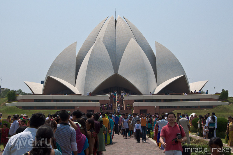 Храм Лотоса в Дели, Индия / Фото из Индии