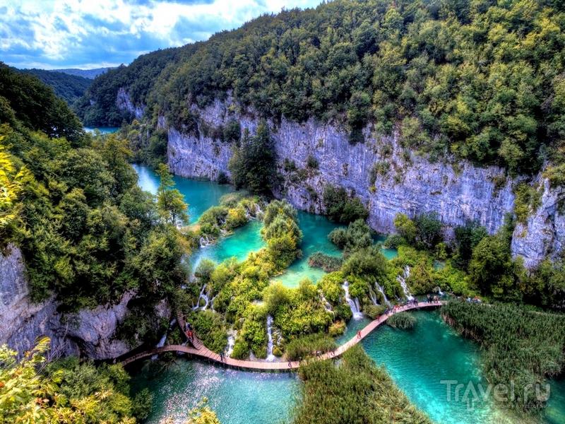 """Площадь национального парка """"Плитвицкие озера"""" составляет 29,5 гектаров / Хорватия"""