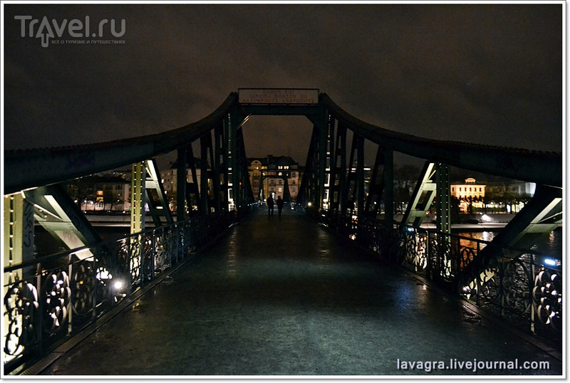 Пешеходный мост Айзернер-Стаг во Франкфурте-на-Майне, Германия / Фото из Германии