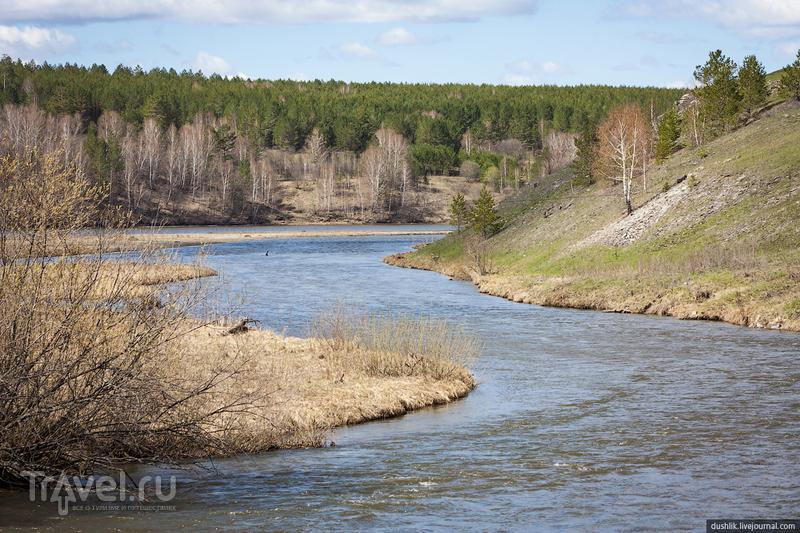 Река Большая Сатка Челябинской области, Россия / Фото из России