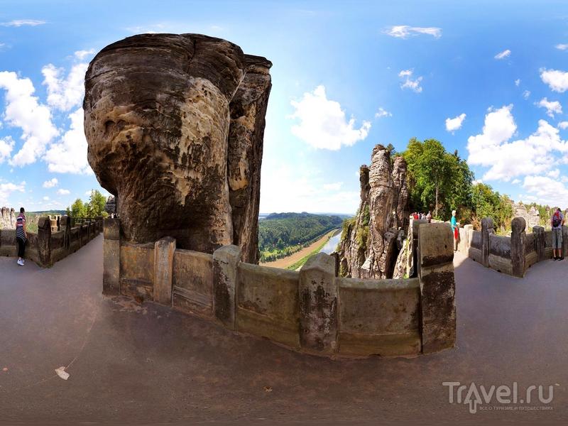 В 1851 году на месте деревянного моста Бастай был воздвигнут аналог из песчаника, Германия / Германия