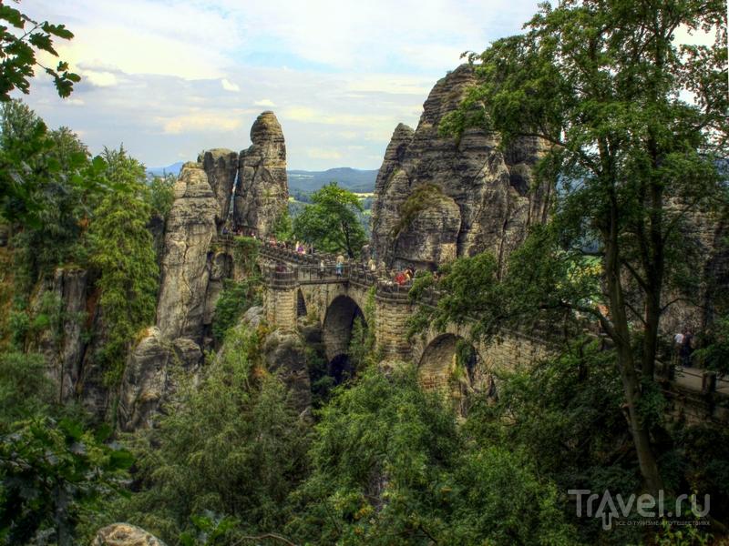Монументальный Бастайский мост был построен из дерева в 1824 году, Германия / Германия