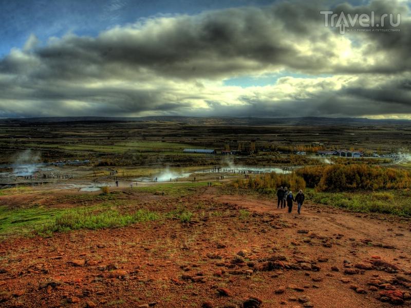 Расположенная на юго-западе Исландии долина Хаукадалур / Исландия