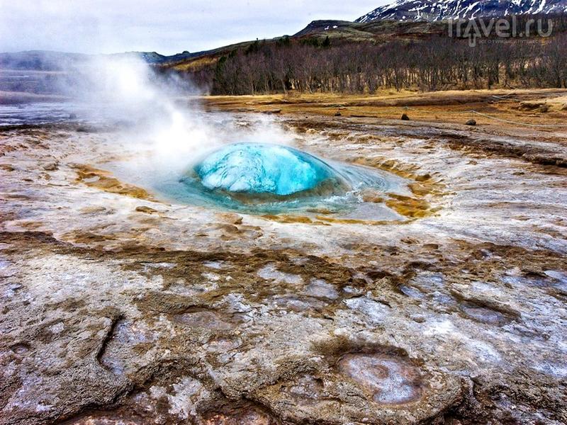 Извержение Гейсира в долине Хаукадалур, Исландия / Исландия