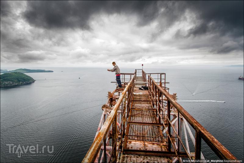 Нелегальное восхождение на самый большой в мире вантовый мост (Владивосток) / Фото из России