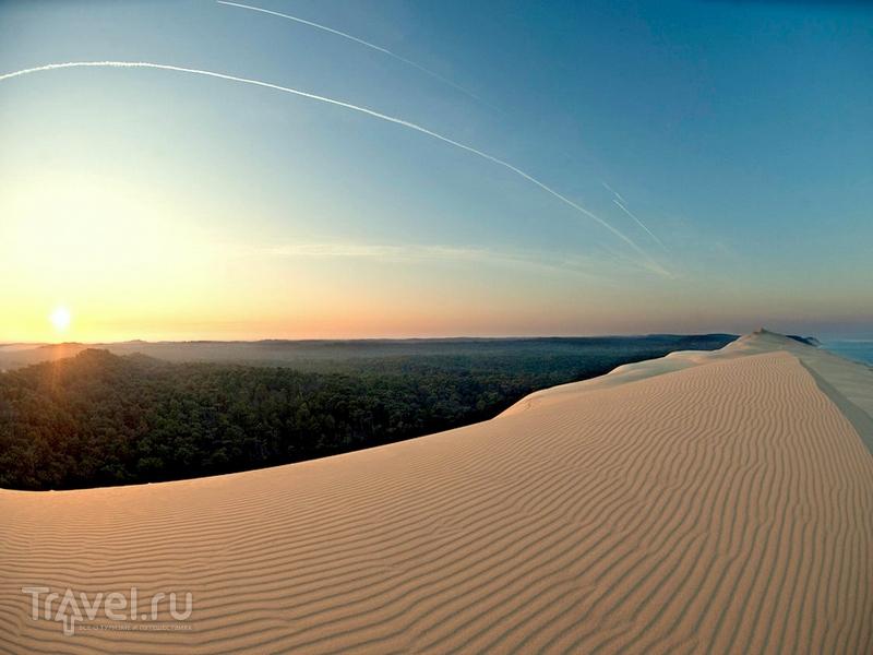Песчаные холмы образовались в результате взаимодействия сильных ветров, приливов и отливов / Франция