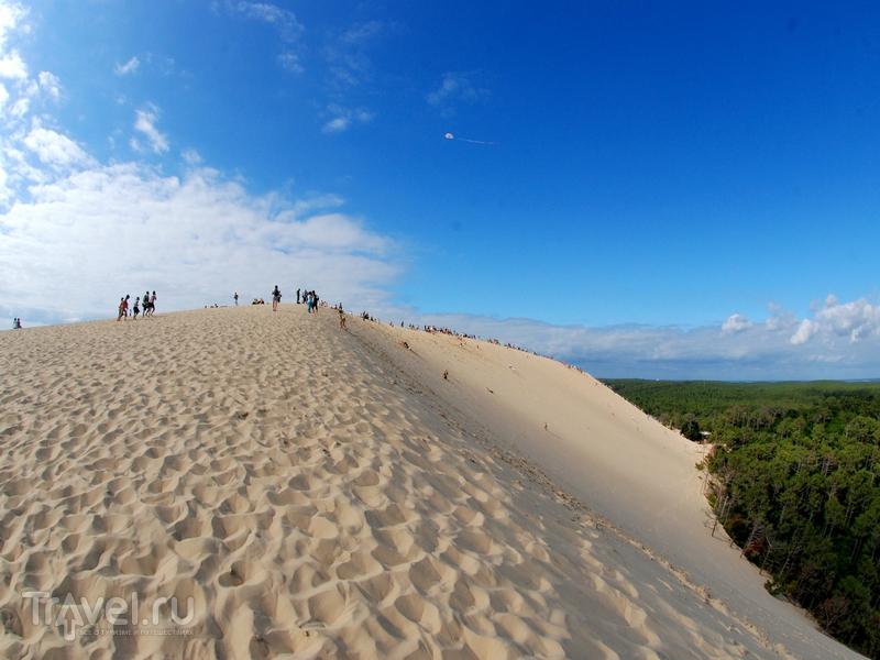 В среднем дюна Пила перемещается на пять метров в год, Франция / Франция