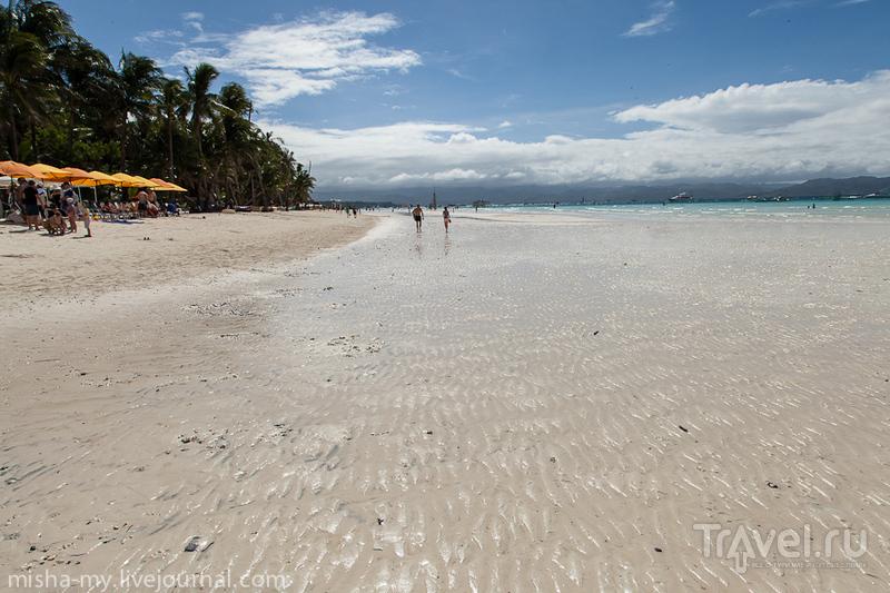 Белый пляж на острове Боракай, Филиппины / Фото с Филиппин