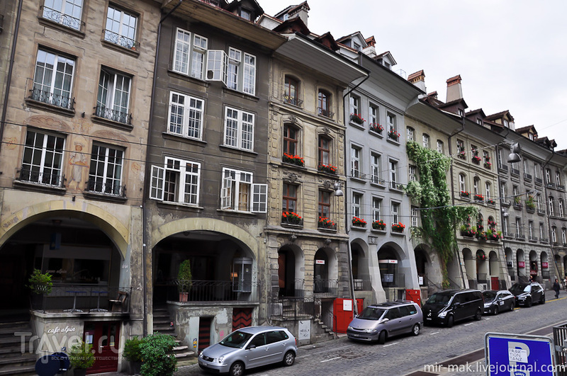 Центральная улица Крамгассе в Берне, Швейцария / Фото из Швейцарии