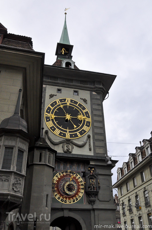 Цитглоггетурм (Zytgloggeturm) в Берне, Швейцария / Фото из Швейцарии